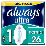 Always Ultra Normal S/Twels With Wings 26 Pack